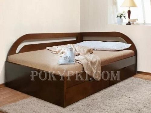 угловая односпальная кровать